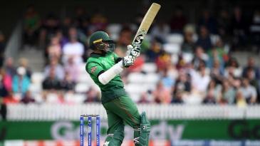 Shakib Al Hasan hit his fifth consecutive 50 in ODIs