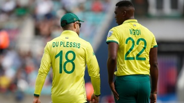 Lungi Ngidi hasn't featured since injuring his hamstring during the match against Bangladesh