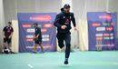 James Vince sprints during an indoor nets session, England v Afghanistan, World Cup, June 17, 2019