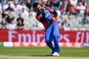 Dawlat Zadran celebrates taking the wicket of James Vince, England v Afghanistan, World Cup 2019, Manchester, June 18, 2019