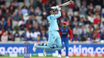 Joe Root takes flight as he hits a boundary over cover point