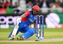 Gulbadin Naib slips while taking a run, England v Afghanistan, World Cup 2019, Manchester, June 18, 2019