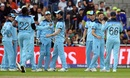 England celebrate after Gulbadin Naib is caught by Jos Buttler off Mark Wood's bowling, England v Afghanistan, World Cup 2019, Manchester, June 18, 2019