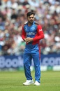 Rashid Khan ponders his next move, England v Afghanistan, World Cup 2019, Manchester, June 18, 2019