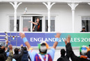 Jimmy Neesham throws a pair of gloves to the crowd, India v New Zealand, World Cup 2019, Trent Bridge, June 13, 2019