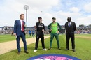 Kane Williamson and Faf du Plessis at the toss, South Africa v New Zealand, World Cup 2019, Birmingham, June 19, 2019