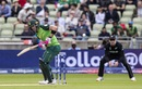 Faf du Plessis plays a shot, South Africa v New Zealand, World Cup 2019, Birmingham, June 19, 2019