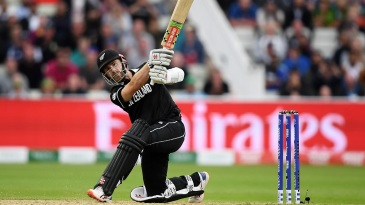 Kane Williamson ties the scores with a six