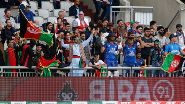 A section of the crowd during the England v Afghanistan World Cup match at Old Trafford