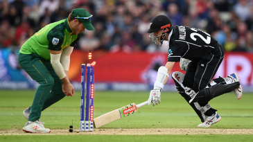 The key moment? South Africa miss the chance to run out Kane Williamson
