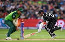 The key moment? South Africa miss the chance to run out Kane Williamson, New Zealand v South Africa, Birmingham, June 19, 2019