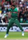 Soumya Sarkar celebrates after taking the wicket of Aaron Finch, Australia v Bangladesh, World Cup 2019, Trent Bridge, June 20, 2019