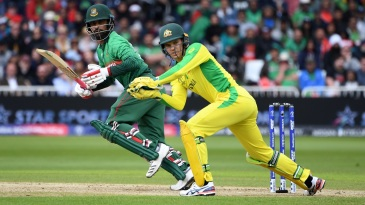 Tamim Iqbal plays a shot