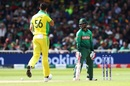 Tamim Iqbal is bowled by Mitchell Starc, Australia v Bangladesh, World Cup 2019, Trent Bridge, June 20, 2019