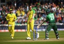Mitchell Starc celebrates taking the wicket of Tamim Iqbal, Australia v Bangladesh, World Cup 2019, Trent Bridge, June 20, 2019
