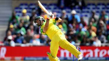 Glenn Maxwell almost throws himself off his feet
