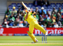 Glenn Maxwell almost throws himself off his feet, Australia v Bangladesh, World Cup 2019, Trent Bridge, June 20, 2019