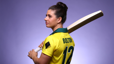 Nicole Bolton poses during a pre-Ashes photoshoot at Australia's National Cricket Centre of Excellence