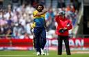 Lasith Malinga celebrates the wicket of Jonny Bairstow, England v Sri Lanka, World Cup 2019, Headingley, June 21, 2019