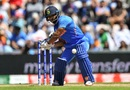 Kedar Jadhav plays a shot, Afghanistan v India, World Cup 2019, Southampton, June 22, 2019