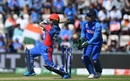 MS Dhoni looks on as Hashmatullah Shahidi smacks one to the boundary, Afghanistan v India, World Cup 2019, Southampton, June 22, 2019