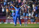 Mohammed Shami's last-over hat-trick sealed the win for India, Afghanistan v India, World Cup 2019, Southampton, June 22, 2019
