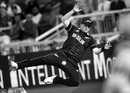 Colin Munro dives in a vain attempt to get to the ball, New Zealand v West Indies, World Cup 2019, Manchester, June 22, 2019