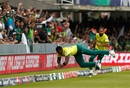 Lungi Ngidi and Imran Tahir attempt to stop a boundary, Pakistan v South Africa, World Cup 2019, Lords, June 7, 2019