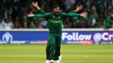 Howzzat! Mohammad Amir appeals