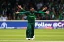 Howzzat! Mohammad Amir appeals, Pakistan v South Africa, World Cup 2019, Lords, June 7, 2019