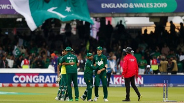 Pakistan celebrate their win over South Africa