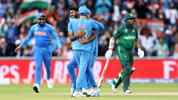 Vijay Shankar's dismissal of Imam-ul-Haq is the eighth recorded instance of a first-ball wicket in the World Cup