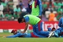 Hashmatullah Shahidi receives a massage from Hazratullah Zazai, Afghanistan v Bangladesh, World Cup 2019, Southampton, June 24, 2019