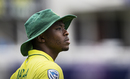 Kagiso Rabada wears a pensive look in the outfield, Pakistan v South Africa, World Cup 2019, Lords, June 7, 2019