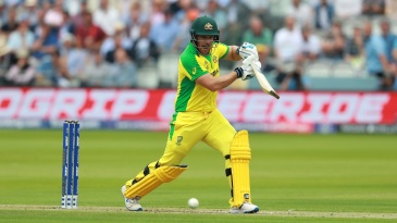 Aaron Finch helped Australia get off to a good start again