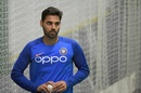 Bhuvneshwar Kumar bowled a bit in the indoor nets, World Cup 2019, Manchester, June 25, 2019