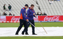 Groundsmen clear the water off the covers, New Zealand v Pakistan, World Cup 2019, Edgbaston, June 26, 2019