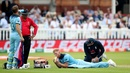Ben Stokes receives treatment from physio, England v Australia, World Cup 2019, Lord's, June 25, 2019