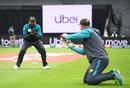Mickey Arthur gives catching practice to Haris Sohail, New Zealand v Pakistan, World Cup 2019, Edgbaston, June 26, 2019