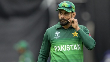 Mohammad Hafeez tweaks his moustache