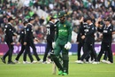 Fakhar Zaman walks back after his dismissal, New Zealand v Pakistan, World Cup 2019, Birmingham, June 26, 2019