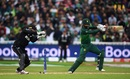 Mohammad Hafeez cuts the ball away, New Zealand v Pakistan, World Cup 2019, Birmingham, June 26, 2019