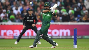 A perfectly timed pull shot from Babar Azam