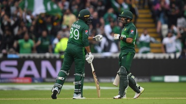 Babar Azam and Haris Sohail's partnership powered Pakistan's chase