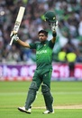 Babar Azam celebrates his century, New Zealand v Pakistan, World Cup 2019, Birmingham, June 26, 2019