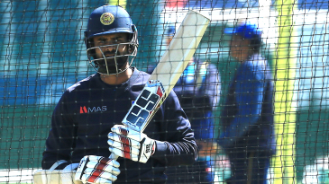 Lahiru Thirimanne at a nets session