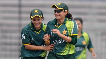 Javeria Khan (L) has been demoted to Category B, while Sana Mir stays in A