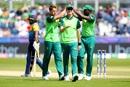 Dwaine Pretorius celebrates taking the wicket of Avishka Fernando, World Cup 2019, Chester-le-Street, June 28, 2019