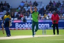 Dwaine Pretorius celebrates after dismissing Kusal Perera, South Africa v Sri Lanka, World Cup 2019, Chester-le-Street, June 28, 2019