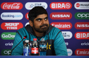 Haris Sohail looks on during a press conference, World Cup 2019, Leeds, June 28, 2019